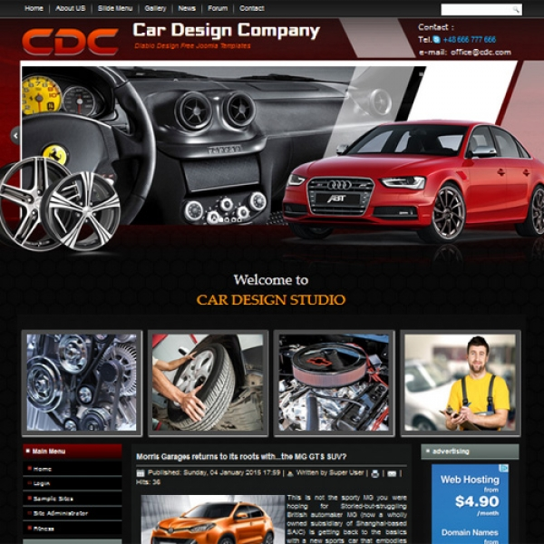 Car Design Joomla шаблон от Diablo Design