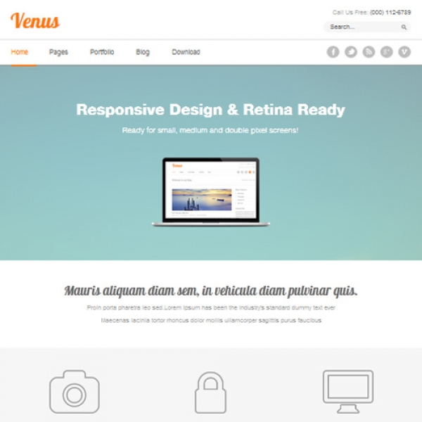 Venus Joomla шаблон от Beautiful Templates