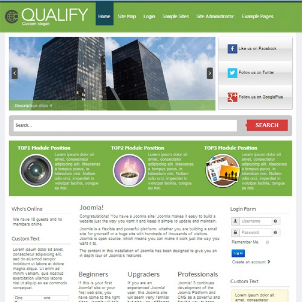 Qualify Joomla шаблон от XS Web Design