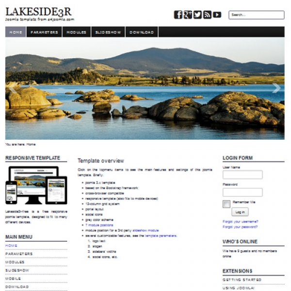 Lakeside 3R Joomla шаблон от a4joomla