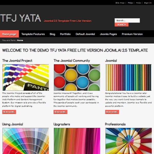 Yata Joomla шаблон от Templates for Joomla