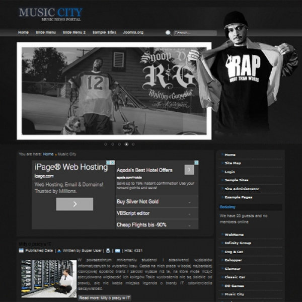 Music City Joomla шаблон от Diablo Design
