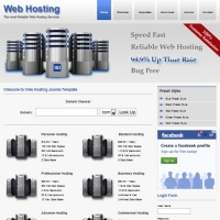 Web Hosting Joomla шаблон от Web Design Builders