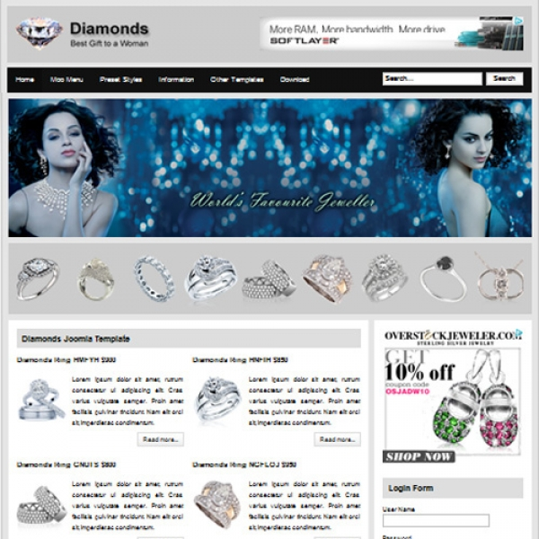 Diamonds Joomla шаблон от Web Design Builders