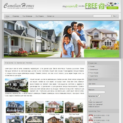 Camelian Homes Joomla шаблон от Web Design Builders