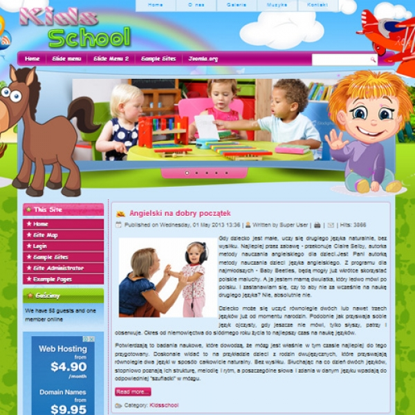 Kids School Joomla шаблон от Diablo Design