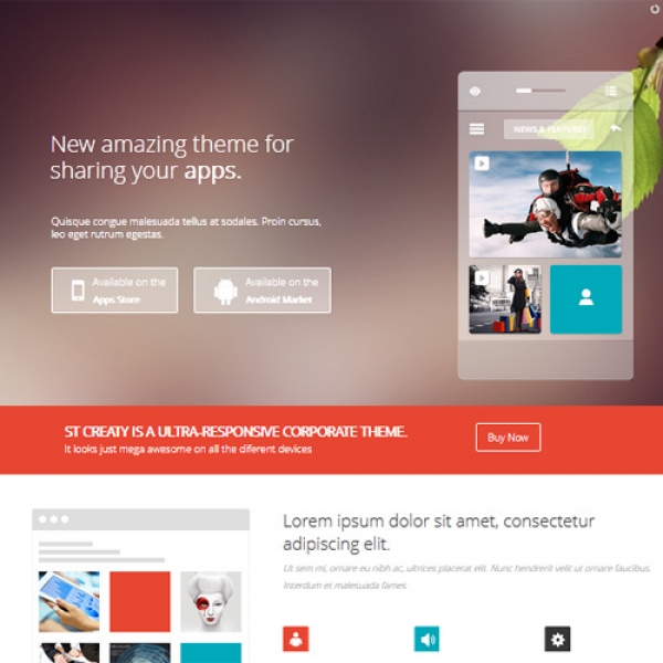 Creaty Joomla шаблон от Beautiful Templates