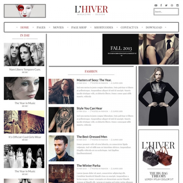 Lhiver Joomla шаблон от Beautiful Templates