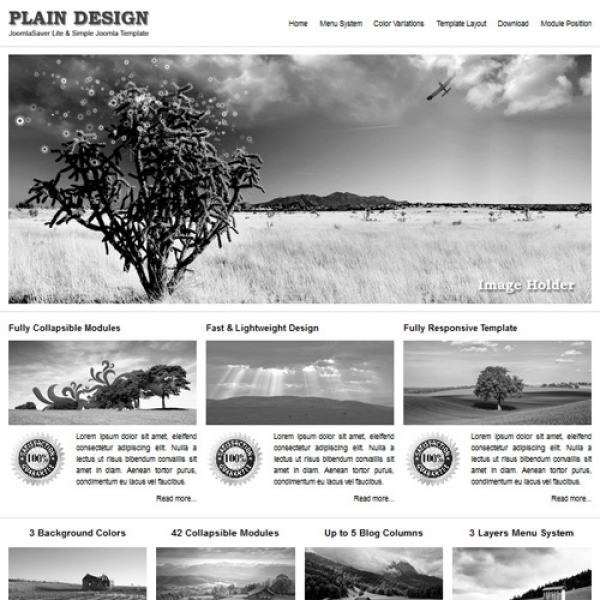 Plain Design Joomla шаблон от JoomlaSaver