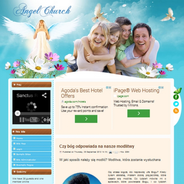 Angel Church Joomla шаблон от Diablo Design