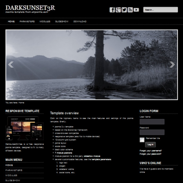 Darksunset3R Joomla шаблон от a4joomla