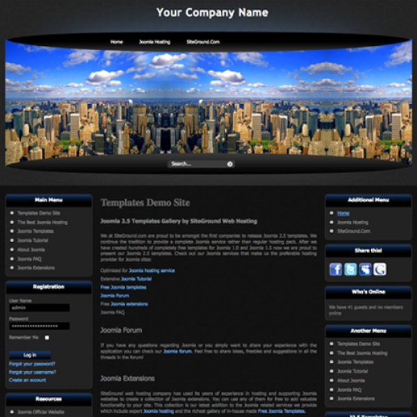 City View Joomla шаблон от Site Ground
