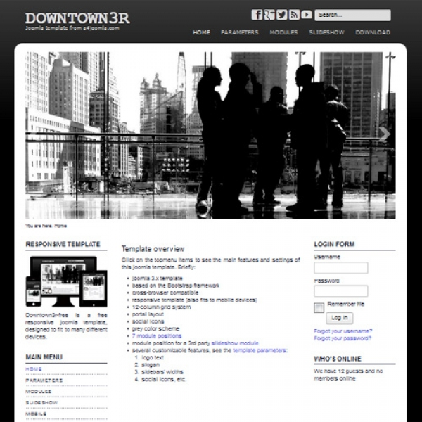 Downtown3R Joomla шаблон от a4joomla