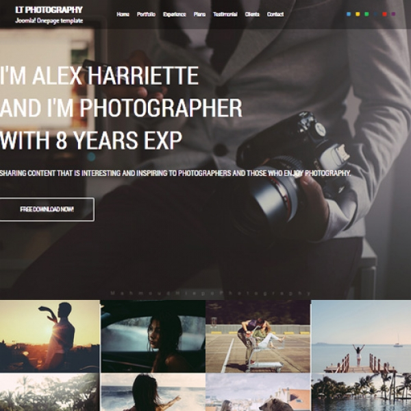 Photography Joomla шаблон от LTheme