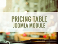 Responsive Pricing Table – функциональная таблица Joomla 3