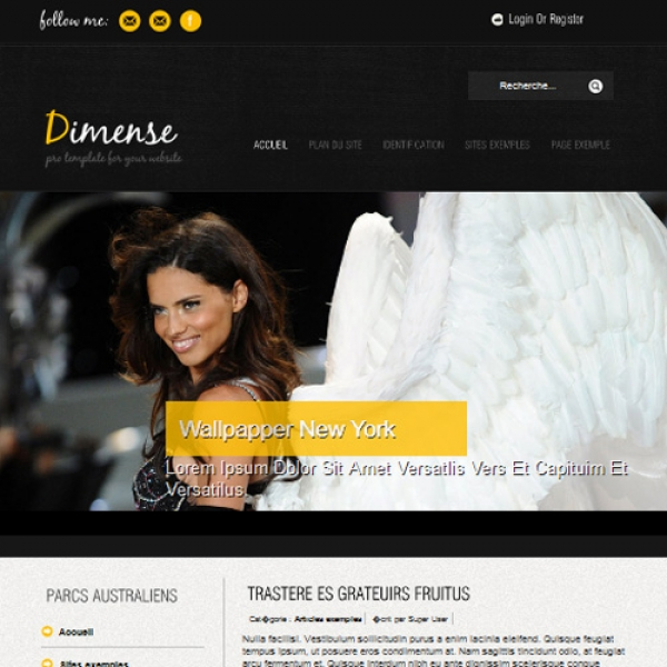 Dimense View Yellow Joomla шаблон от Globbers Themes