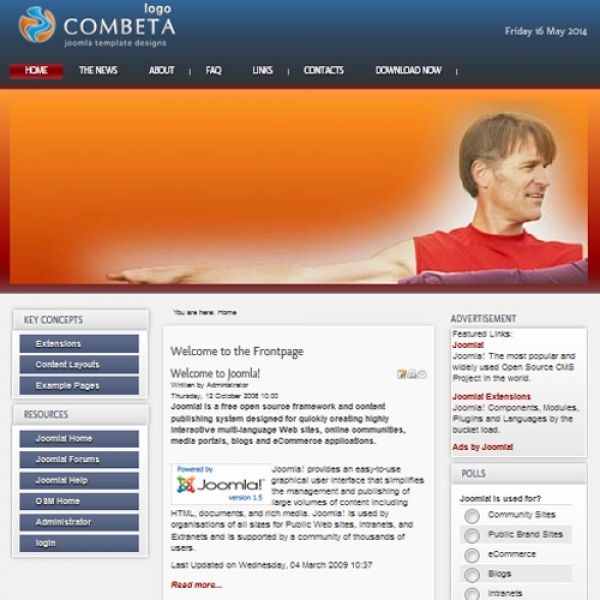 Combeta Joomla шаблон от Joomla Template Design