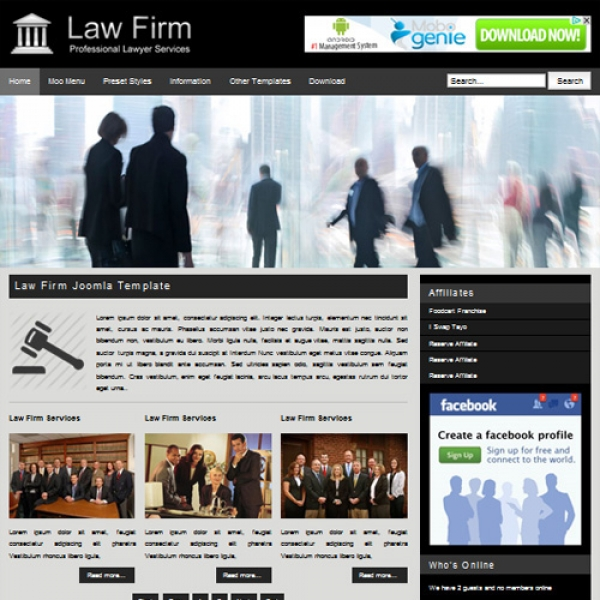 Law Firm Joomla шаблон от Web Design Builders