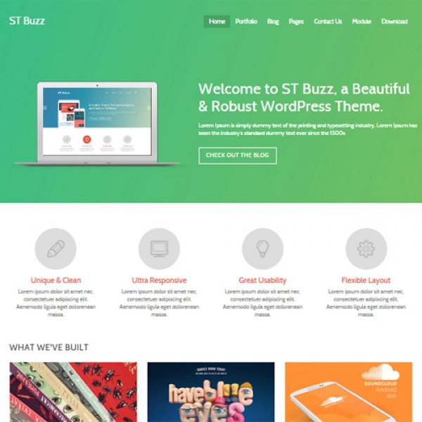 Buzz Joomla шаблон от Beautiful Templates