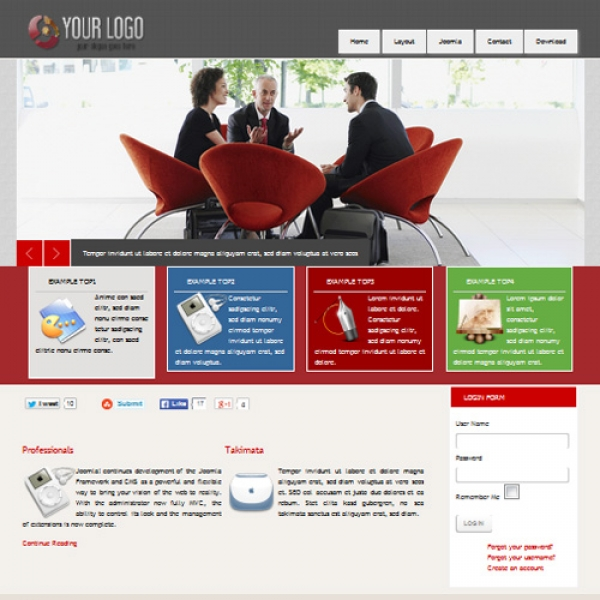 Joofree 10 Joomla шаблон от Mix Web Templates