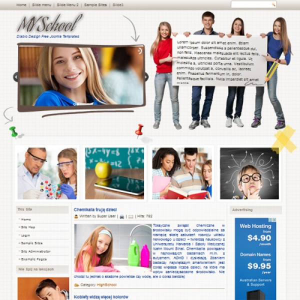 MY School Joomla шаблон от Diablo Design