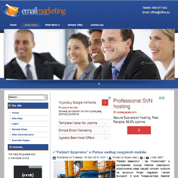 Email Marketing Joomla шаблон от Diablo Design