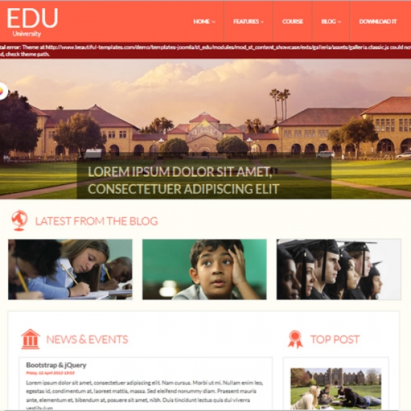 Edu Joomla шаблон от Beautiful Templates