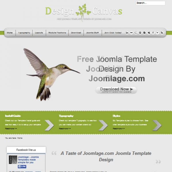 Design Canvas Joomla шаблон от Joomlage