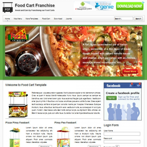 Food Cart Joomla шаблон от Web Design Builders