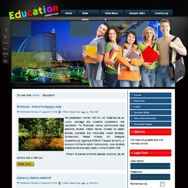 Education Joomla шаблон от Diablo Design
